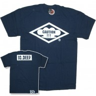 10 Deep 'Caution' T-Shirt -Navy-