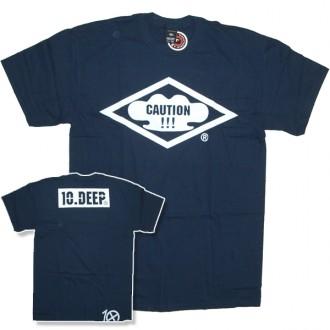 10 Deep 'Caution' T-Shirt -Navy-