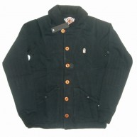 10 Deep 'DMs Shawl Neck' Button-Up -Black-