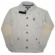 10 Deep 'DMs Shawl Neck' Button-Up -Oatmeal-