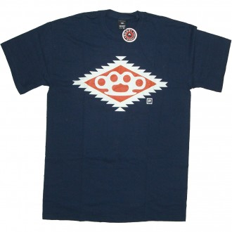 10 Deep 'Navajo Diamond Knuckle' T-Shirt -Navy-