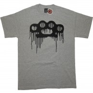 10 Deep 'Drip Knuckle Logo' T-Shirt -Grey-