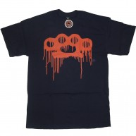 10 Deep 'Drip Knuckle Logo' T-Shirt -Navy-