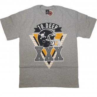 10 Deep 'Triple X Gridiron' T-Shirt -Grey-