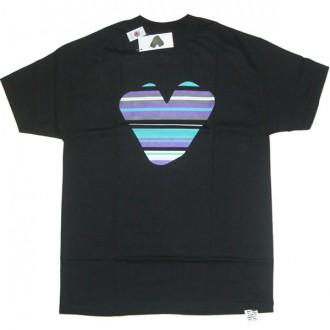 Twelve Bar 'Stripe Logo' Tee  -Black-