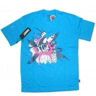 Addict 'World Series - NYC' T Shirt -Aqua-
