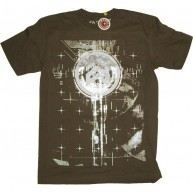Analog 'Finger Print' Tee  -Brown-