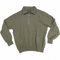 Bond 'Zip Neck' Sweatshirt  -Green-
