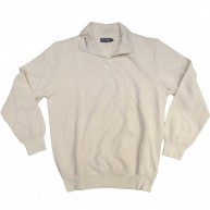 Bond 'Zip Neck' Sweatshirt  -Natural-