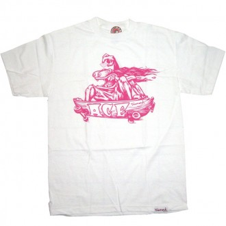 Diamond Supply Co 'X Ace Trucks pt.2' T Shirt -Wht/Pink-
