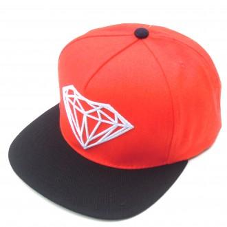 Diamond Supply Co 'Brill' Snapback Cap -Red/Orange-