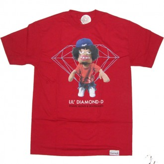 Diamond Supply Co 'Daniel Castillo' Tee -Red-