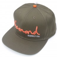 Diamond Supply Co 'O.G. Logo' Snapback Cap -Green-