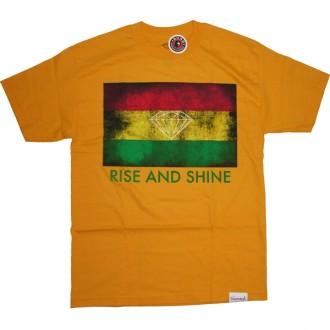 Diamond Supply Co 'Rise & Shine' Tee -Yellow-