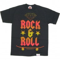 Diamond Supply Co 'Rock & Roll' T Shirt -Black-