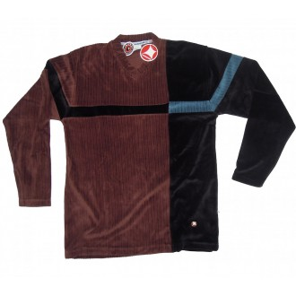 Fresh Jive 'Velour L/S V-Neck -Brown-
