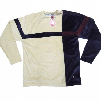 Fresh Jive 'Velour L/S V-Neck -Cream-