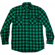 The Hundreds 'Bison' Flannel Shirt -Green-