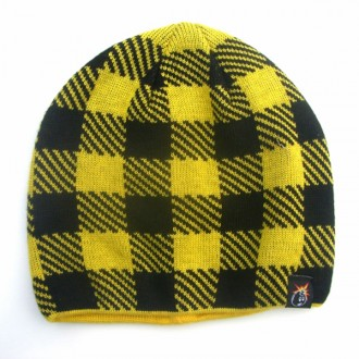 The Hundreds 'Buffalo Check' Beanie -Yellow-
