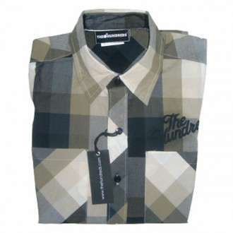 The Hundreds 'Havta Plaid' L/S Shirt -Black-