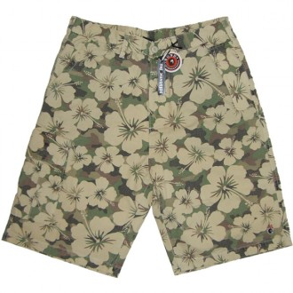Public Label Hawaiian Shorts -Camo-