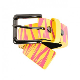 The Hundreds 'Jags' Lthr Belt -Pink-
