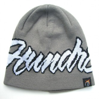 The Hundreds 'Script' Beanie -Grey-