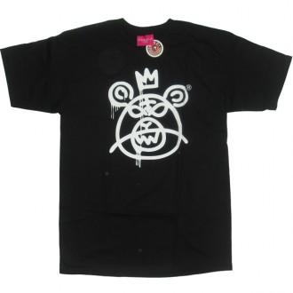 Mishka 'Bear Mop w11' T-Shirt -Black/Wht-