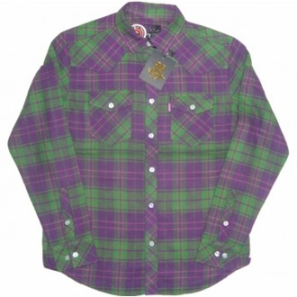 Mishka 'Exile' Fannel Shirt-Green-
