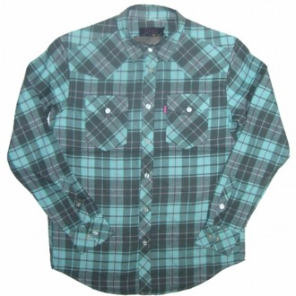 Mishka 'Exile' Fannel Shirt-Mint-