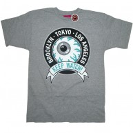 Mishka 'Keep Watch Crest' T-Shirt -Grey-