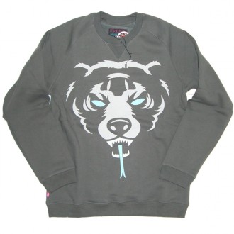 Mishka 'Oversize Death Adder F11' Sweatshirt -Grey-