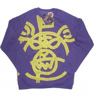 Mishka 'Oversized Halftone MOP' Sweat -Purple-