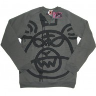 Mishka 'Oversized MOP w11' Sweat Shirt -Charcoal-