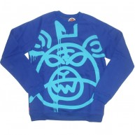 Mishka 'Oversized MOP w11' Sweat Shirt -Cobalt-