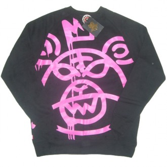 Mishka 'Oversized MOP' Sweat -Black/Pink-