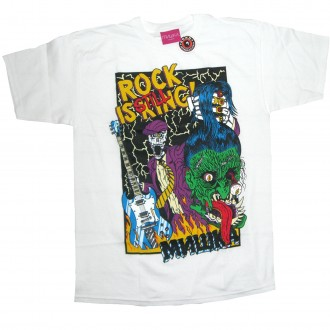 Mishka 'Rock Is Still King' T-Shirt -White-