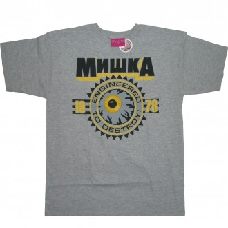 Mishka 'Keep Watch Crest 11' T-Shirt -Grey-