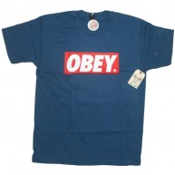 Obey 'Bar Logo' T-Shirt -P Blue-