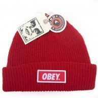 Obey 'Sandard Issue' Beanie -Red-