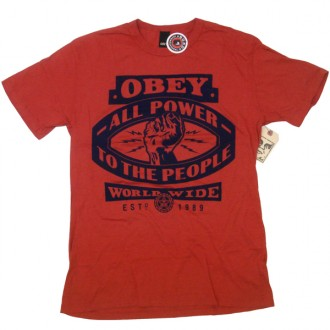 Obey 'All Power' Antique Tee -Paprika-