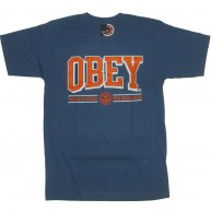 Obey 'Athletics' T-Shirt -Blue-