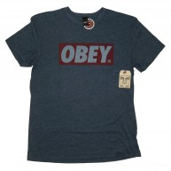 Obey 'Bar Heather' T-Shirt -Navy-