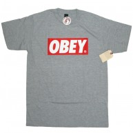 Obey 'Bar Logo' T-Shirt -Grey-