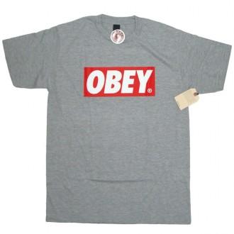 Obey 'Bar Logo' T-Shirt -Grey-