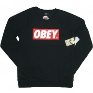 Obey 'Bar Logo' Sweat-Shirt -Black-