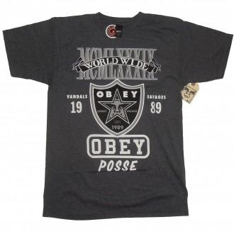 Obey 'Super Brawl' T-Shirt -Charcoal-