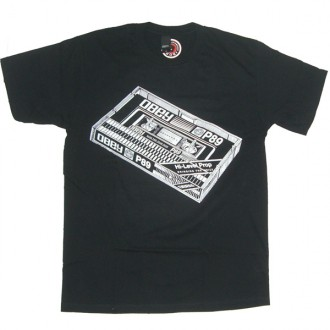 Obey 'Cassette Tape' Basic Tee -Black-