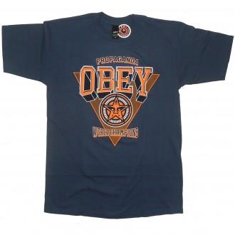 Obey 'World Chapions' T-Shirt -Blue-