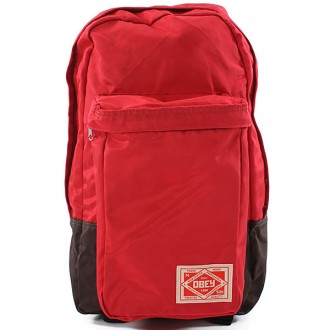 Obey 'Commuter' Back Pack -Red-